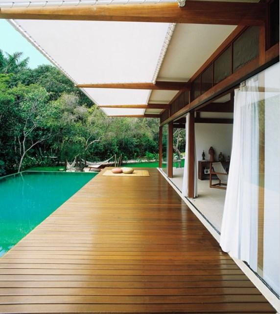 Villa Modern house resort mood materials of wood (3)