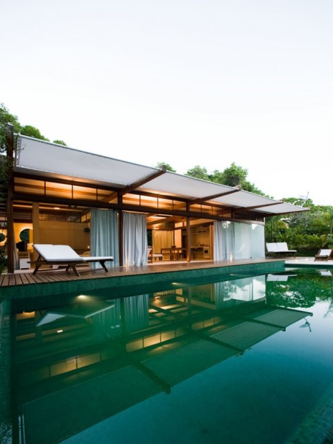 Villa Modern house resort mood materials of wood (6)