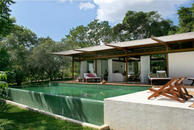 Villa Modern house resort mood materials of wood (8)