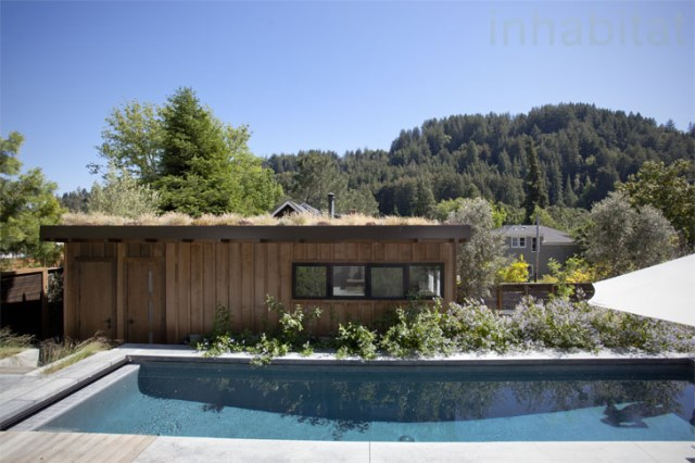 Wooden cabin house With swimming pool (10)