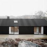 บ้านขนาดเล็ก ออกแบบภายนอกสีดำมาดขรึม บิวท์อินภายในด้วยไม้ สวยงามสบายตา