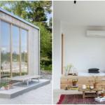 บ้านตากอากาศโมเดิร์น ตกแต่งด้วยทรงกล่อง ภายในโทนขาวสว่าง มินิมอลที่สุด