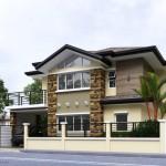 บ้านสองชั้นสไตล์ร่วมสมัย ออกแบบให้มาดขรึม ดูภูมิฐานในรูปทรงและโทนสี