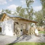 บ้านขนาดเล็ก 22 ตร.ม. ออกแบบน้อยๆ ที่เรียบง่าย เหมาะที่จะกระยุกต์ทำเป็นบ้านสวน รวมทั้งออฟฟิศ