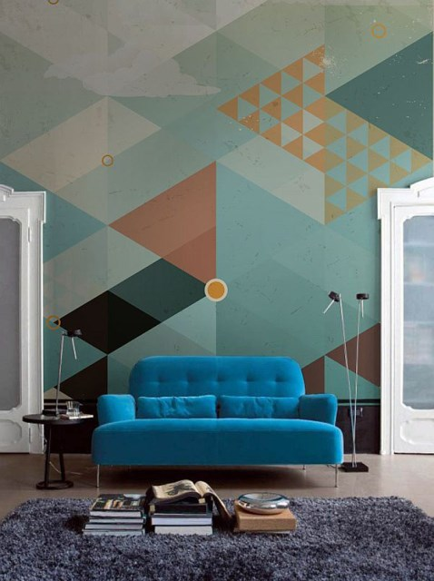 geometric-turquoise-wallpaper-ideas