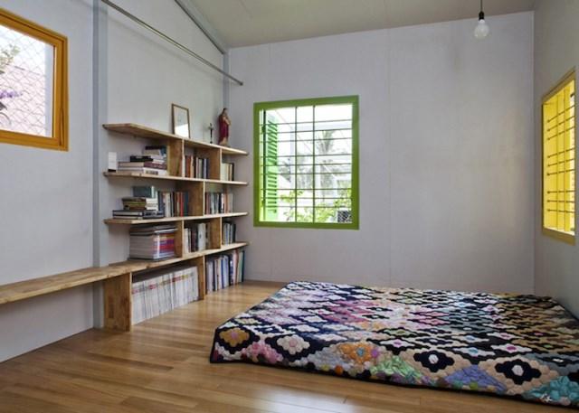 minimalist steel green box house (1)