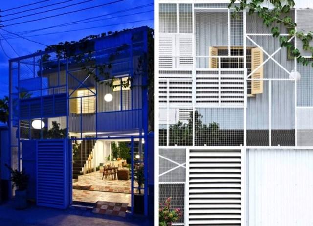 minimalist steel green box house (2)