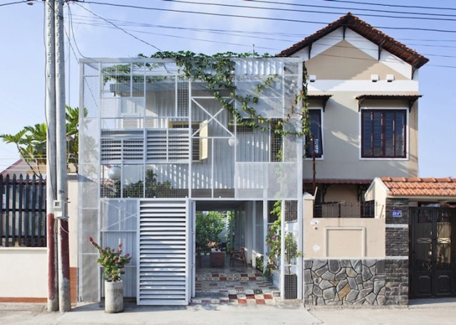minimalist steel green box house (3)