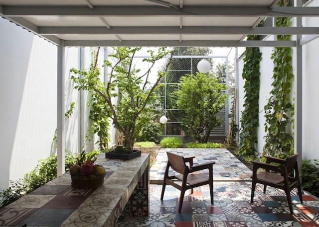 minimalist steel green box house (6)