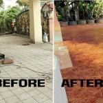 Renovate : เปลี่ยนพื้นโรงรถและสวนหน้าบ้าน ให้กลายเป็นพื้นแบบ Stamp Concrete