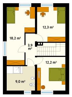 two-storey contemporary house With veranda and garden (2)