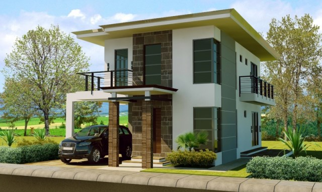 two-story Modern house modern Shape and dignified (4)
