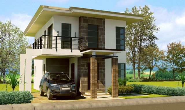 two-story Modern house modern Shape and dignified (5)