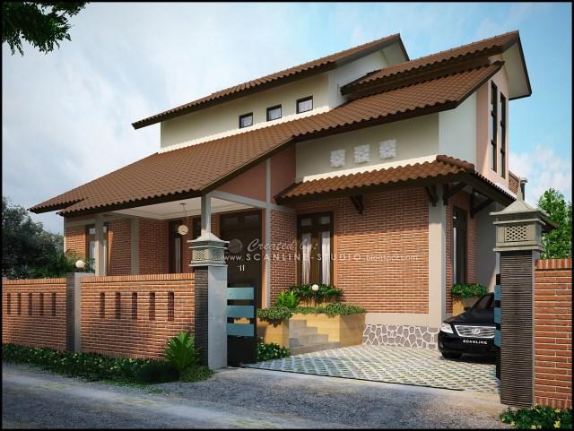 two -story contemporary home Decor brick (10)