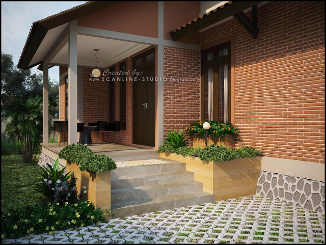two -story contemporary home Decor brick (2)