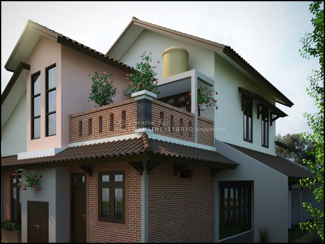 two -story contemporary home Decor brick (3)