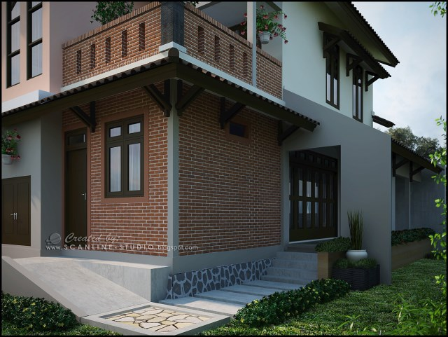 two -story contemporary home Decor brick (4)