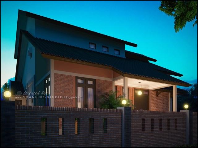 two -story contemporary home Decor brick (6)