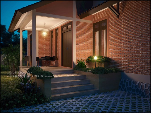 two -story contemporary home Decor brick (7)