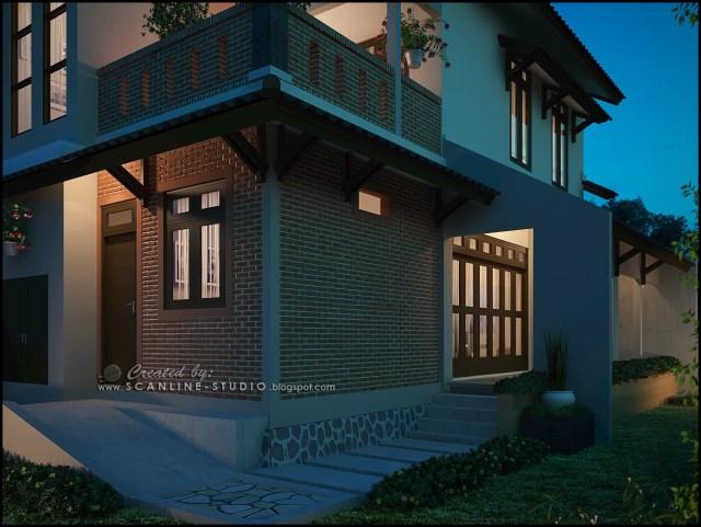 two -story contemporary home Decor brick (9)