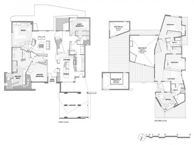 two-tone Modern house Decorative brick (11)