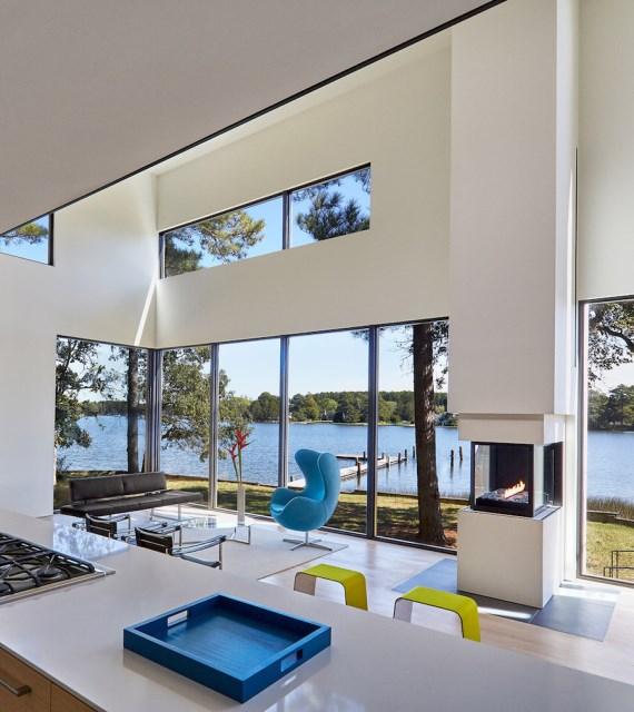 villa house Modern Style shape black dark (7)