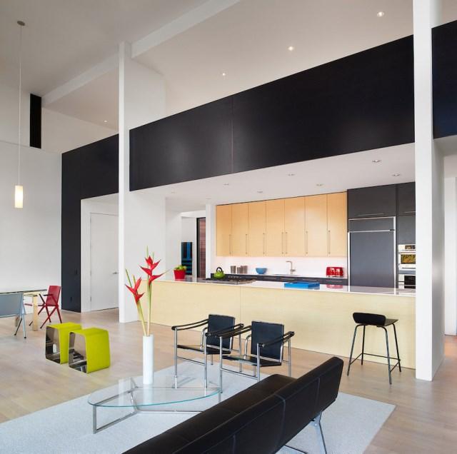 villa house Modern Style shape black dark (9)