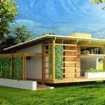 บ้านขนาดเล็กกะทัดรัด ออกแบบสไตล์โมเดิร์น ยกพื้น หลังคาเพิงฯ ตกแต่งด้วยไม้
