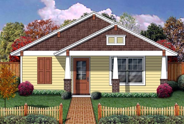 1 bedroom small bungalow double gable house (1)