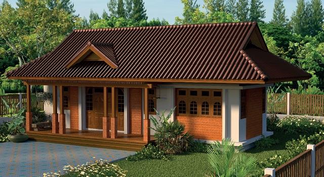 1 floor contemporary wide facade teak house (1)