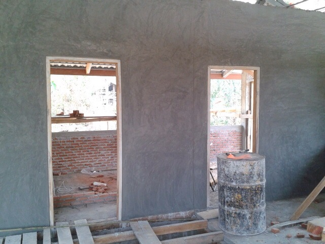 1 storey concrete wooden country house review (24)