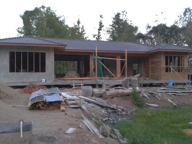1 storey concrete wooden country house review (40)
