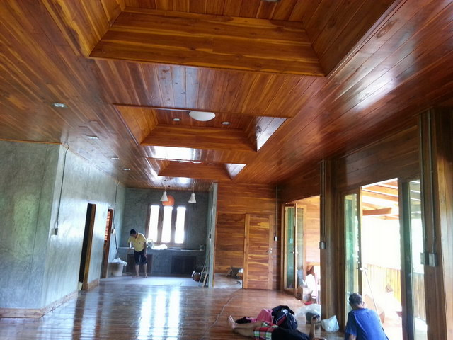 1 storey concrete wooden country house review (58)