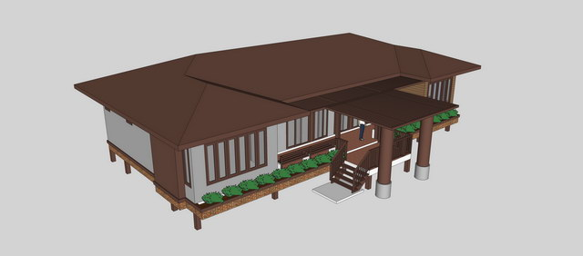 1 storey concrete wooden country house review (6)