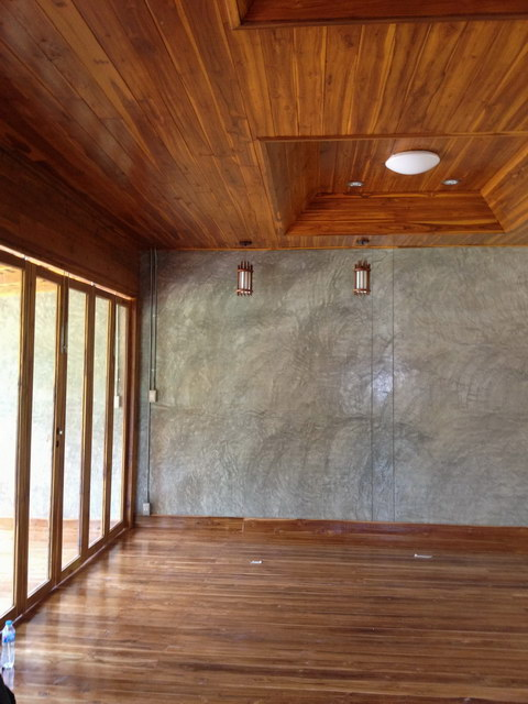 1 storey concrete wooden country house review (61)