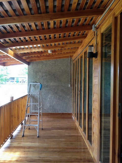 1 storey concrete wooden country house review (62)