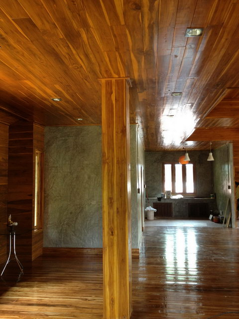 1 storey concrete wooden country house review (63)