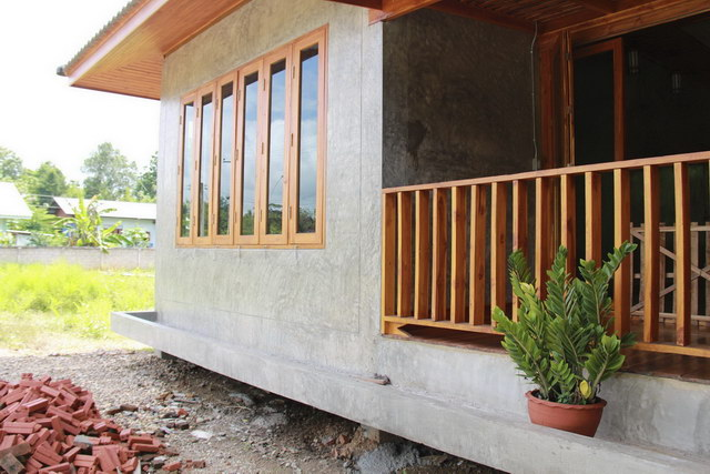 1 storey concrete wooden country house review (65)