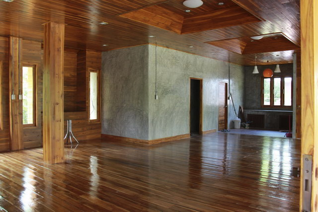 1 storey concrete wooden country house review (66)