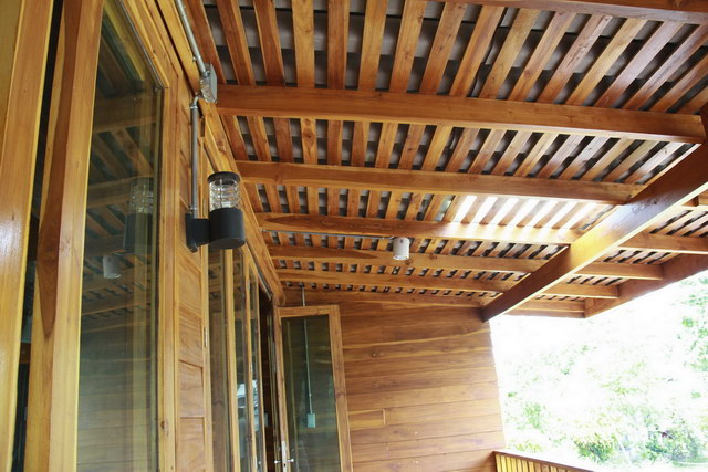 1 storey concrete wooden country house review (75)