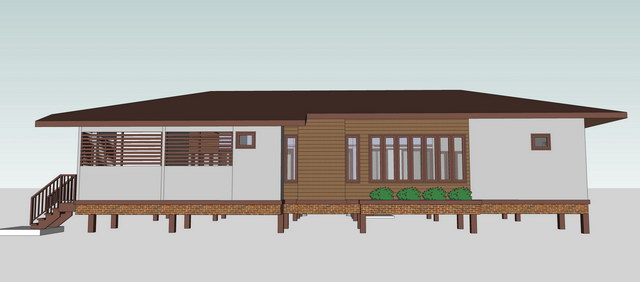 1 storey concrete wooden country house review (8)