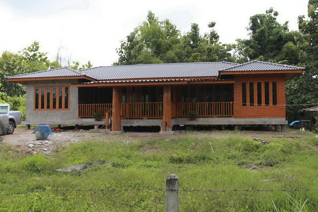 1 storey concrete wooden country house review (80)