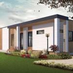 บ้านตากอากาศสไตล์โมเดิร์น รูปทรงกล่องทันสมัย 2 ห้องนอน 2 ห้องน้ำ