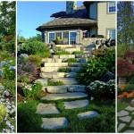 16 ไอเดียสวนสวย ที่ตกแต่งด้วยบันไดหิน สร้างสวนต่างระดับ รับการพักผ่อนที่อิงแอบธรรมชาติ