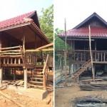 Review : ปลูกบ้านไม้ยกสูง ในสไตล์ที่เรียบง่ายและดั้งเดิม ด้วยงบก่อสร้าง 165,000 บาท!!