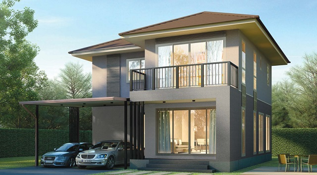 2 floor contemporary simple but elegant house (1)