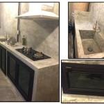 Review : ต่อเติมครัวปูนเปลือย ขนาดกะทัดรัดเพียง 2.4×5 เมตร ในสไตล์บ้านทาวน์โฮม