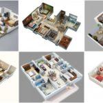 """25 แบบแปลน 3D """"บ้านขนาด 3 ห้องนอน"""" ออกแบบบ้านเพื่อครอบครัว เผยให้เห็นฟังก์ชันการใช้งานแบบชัดๆ"""