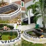 Review : เปลี่ยนมุมว่างๆ หน้าบ้าน ให้เป็นบ่อปลาคาร์ฟฉบับทำเอง ด้วยงบประมาณ 3 พันบาท