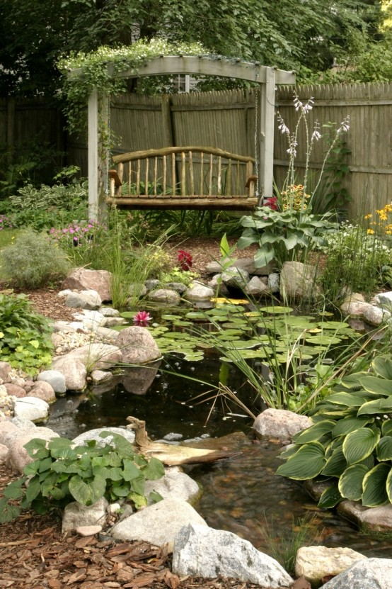 53 backyard pond ideas (15)